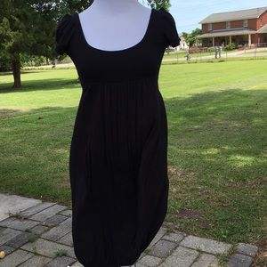 Little Black dress with elastic cinched bottom